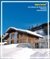 Les Hauts de Pracondu Nendaz Switzerland - Ski chalets for sale