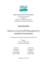 Bachelorarbeit 2009 - Beuth Hochschule für Technik Berlin