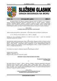 Službeni glasnik Grada Biograda na Moru - broj 5/13 - Grad Biograd ...