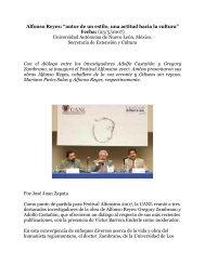 """Alfonso Reyes: """"autor de un estilo, una actitud hacia la cultura ..."""
