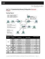 Lab 7.5.3: Troubleshooting Wireless Configuration (Instructor Version)