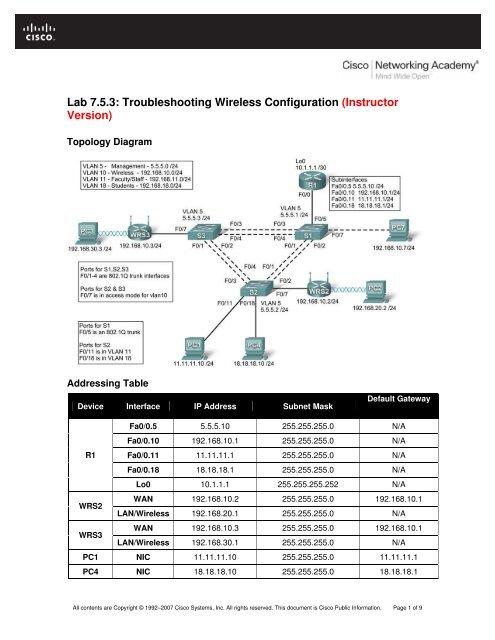 Ccna 3 Lab Manual Instructor Version Peatix