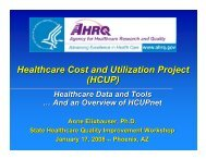 Healthcare Cost and Utilization Project (HCUP ... - AHRQ Archive