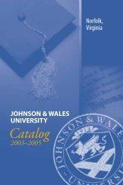 J&W Norfolk Catalog 03-04 - Johnson & Wales University