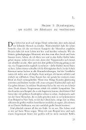 Leseprobe, 3. Kapitel: Meine 5 Strategien, um ... - Synergia Verlag