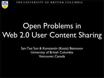 user needs - LERSSE - University of British Columbia