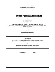 POWER PURCHASE AGREEMENT - BPDB