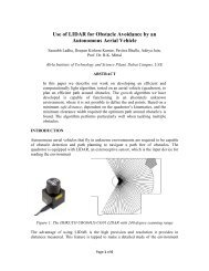 Use of LIDAR for Obstacle Avoidance by an Autonomous Aerial ...