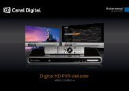 Canal Digital HD PVR 102 CT - PDF - Canal Digital Kabel-TV