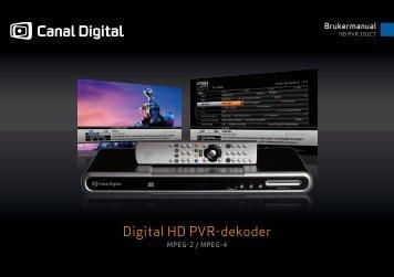 Canal Digital HD PVR 102 CT - PDF - Canal Digital Kabel-TV