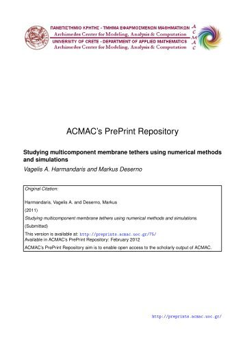 Download (118Kb) - ACMAC's PrePrint Repository