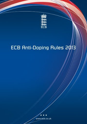ECB Anti-Doping Rules 2013 - Ecb - England and Wales Cricket ...