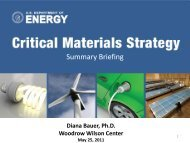Critical Materials Strategy - Woodrow Wilson International Center for ...