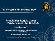 Principales regulaciones del B.C.R.A - ABA Asociación de Bancos ...