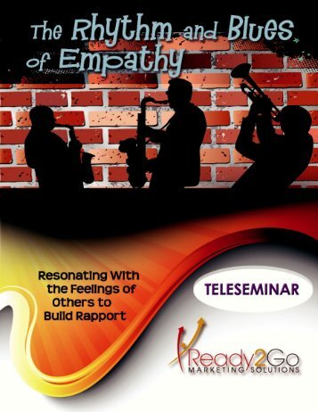 The Rhythm & Blues of Empathy - Ready2Go Marketing Solutions, Inc.