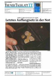 Thuner Tagblatt: Armut und Sozialhilfe in Thun - Im Fall
