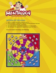 SETTING UP THE GAME - Mentalogy