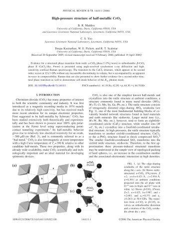 High-pressure structure of half-metallic CrO2