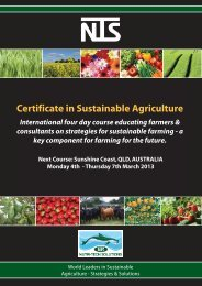 Certificate in Sustainable Agriculture - Nutri-Tech Solutions