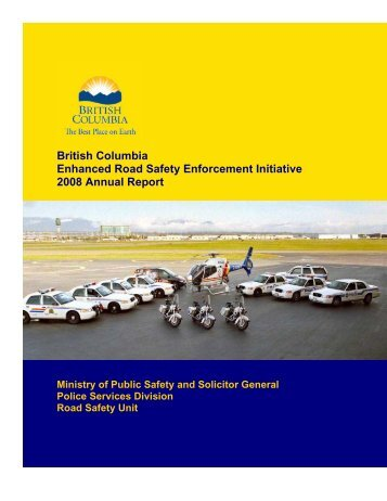 Enhanced Road Safety Enforcement Initiative ... - Ministry of Justice