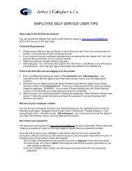 EMPLOYEE SELF SERVICE USER TIPS