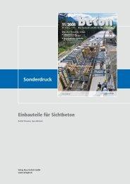 Sonderdruck Einbauteile für Sichtbeton - Vbbf.de