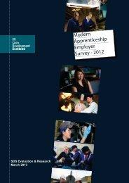 Modern Apprenticeship Survey of Employers 2013 (pdf) - Skills ...