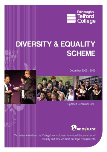 DIVERSITY & EQUALITY SCHEME - Edinburgh's Telford College