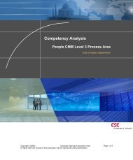 Competency Analysis - CSC