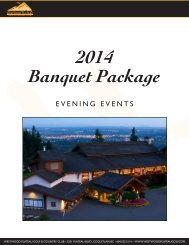 2014 Evening Catering Package - Westwood Plateau Golf and ...