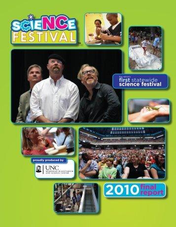 2010 Final Report - North Carolina Science Festival