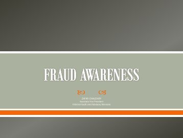 FRAUD AWARENESS - Delaware State University