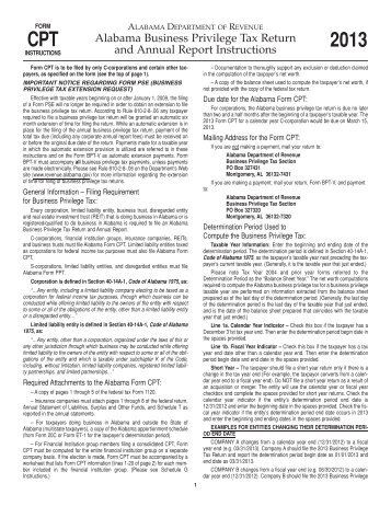 Sch G TY 06 Instructions - Alabama Department of Revenue ...