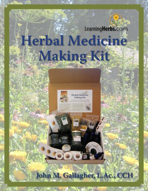 Herbal Medicine Making Kit Download Link - Learning Herbs