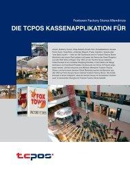 Die TCPOS Kasenapplikation für die gesamte Foxtown gastronomie
