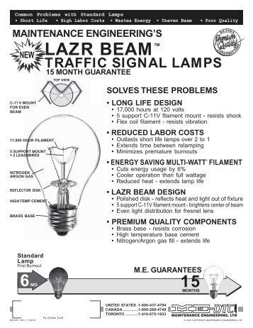LAZR BEAM Traffic Signal Lamps - Sandblighting.com