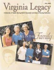 Legacy 2002 Fall - School of Nursing - University of Virginia
