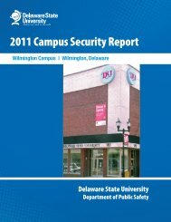 2011 Annual Security Report: Wilmington Campus - Delaware State ...