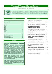 ITTO Tropical Timber Market Report - Forestfinance