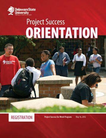 DSU Fall 2012 Project Success New Student Orientation ...