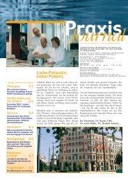 Ausgabe 1 / 2003 - Schwerpunktpraxis für Hämatologie und Onkologie