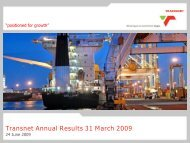 Transnet Annual Results 31 March 2009