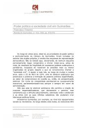 Poder político e sociedade civil em Guimarães - Casa de Sarmento