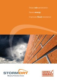 Stormdry Masonry Protection Cream - Safeguard Europe Ltd.