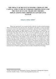 the impact of recent economic crisis on the capital structure of turkish ...