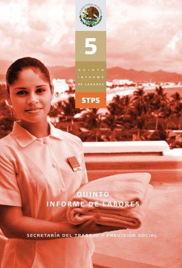 quinto informe de labores - Secretaría del Trabajo y Previsión Social