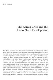 The Korean Crisis and the End of 'Late' Development
