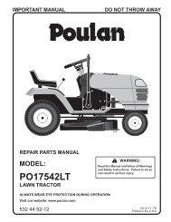 IPL, POULAN, PO17542LT, 2011-08, 532445212, NAen ...