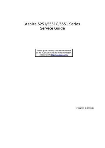 Aspire 5251/5551G/5551 Series_SG - Acer Support