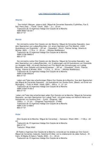 Listado completo de lenguas y ediciones que forman parte del ...